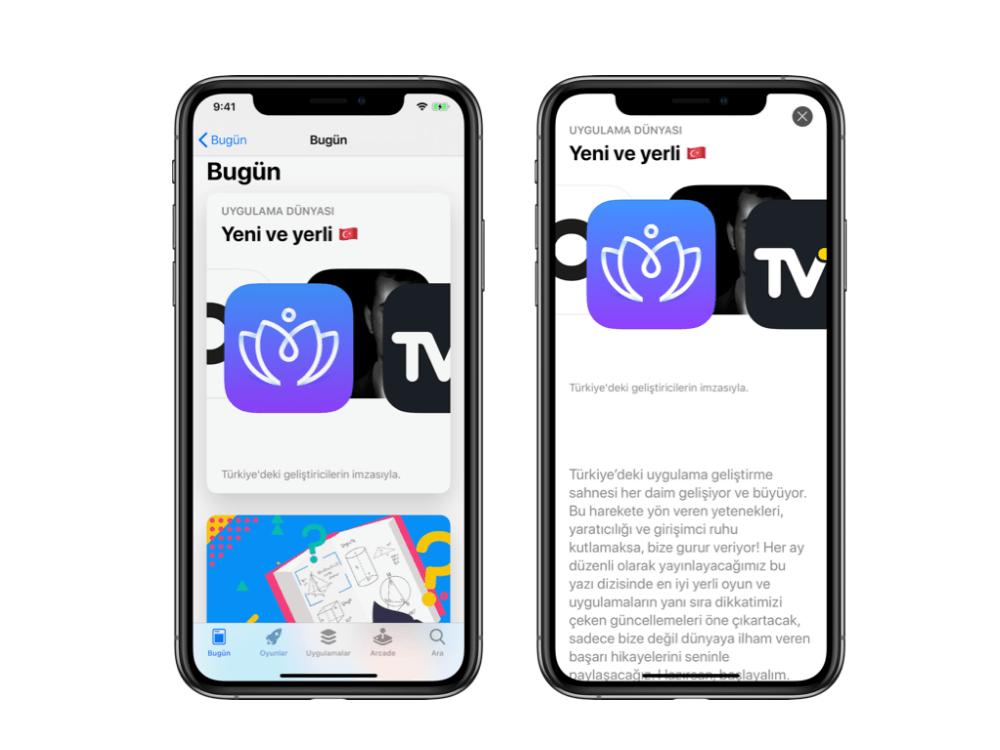 App Store Türkiye için Yeni ve Yerli  isminde özel bir bölüm yayına aldı
