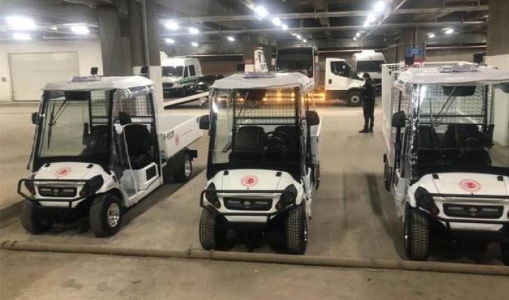 TBMM'de yerli elektrikli mini kamyonetler kullanılmaya başlandı