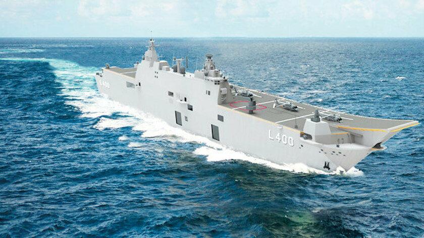 Türkiye'nin ilk milli uçak gemisi TCG Anadolu denizde!