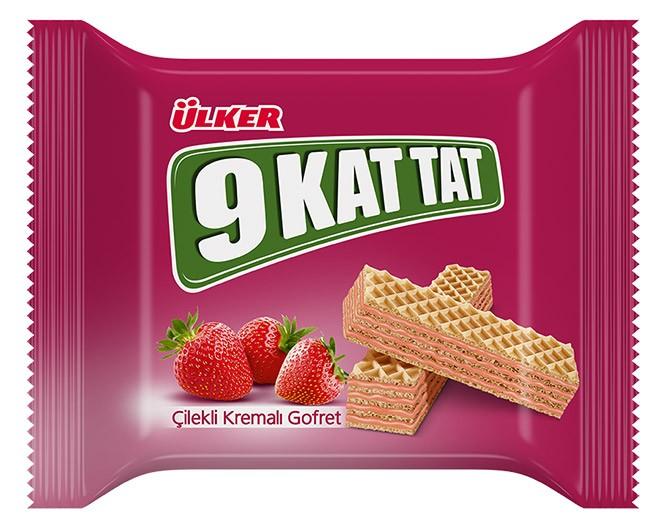 Ülker 9 Kat Tat 31g Çilekli Gofret