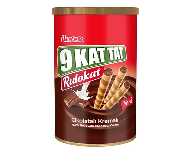 Ülker 9 Kat Tat Rulokat 230g Çikolatalı Gofret