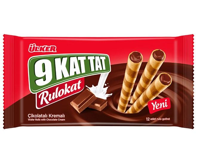 Ülker 9 Kat Tat Rulokat 96g Çikolatalı Gofret