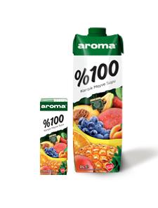 Aroma %100 Karışık Meyve Suyu