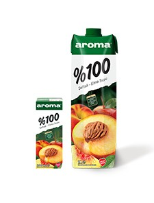 Aroma %100 Şeftali-Elma Suyu