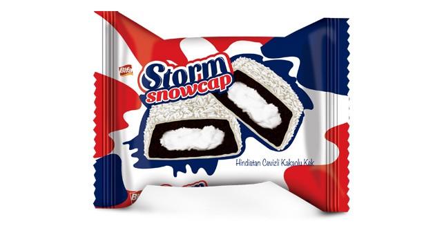 Bifa Bisküvi STORM Snowcap - Hindistan Cevizli Kakaolu Kek