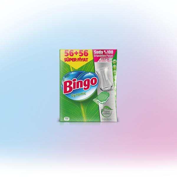 Bingo Dynamic Hepsi Bir Arada 112'li Bulaşık Makinesi Tableti