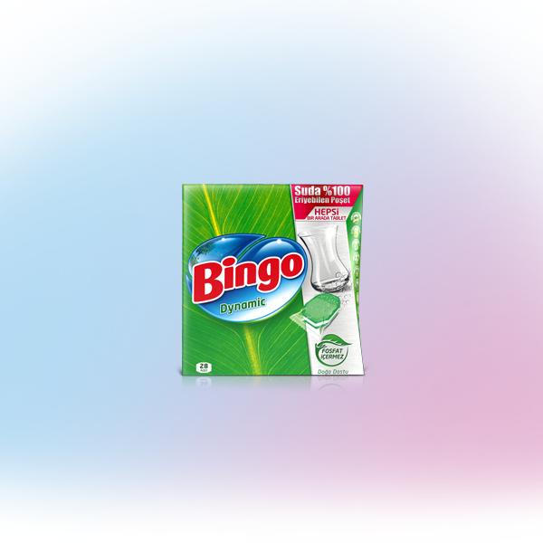 Bingo Dynamic Hepsi Bir Arada 28'li Bulaşık Makinesi Tableti