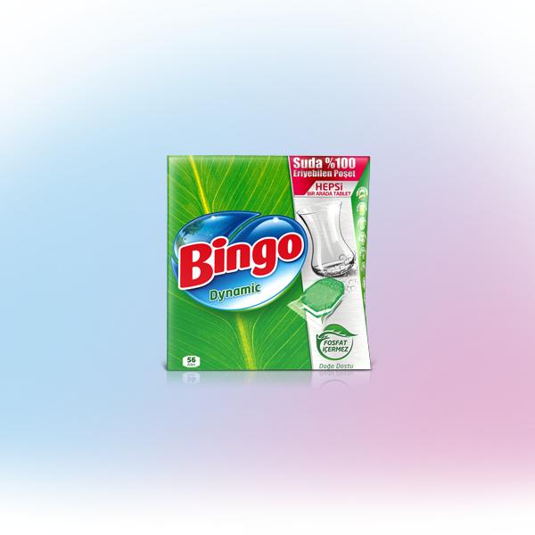 Bingo Dynamic Hepsi Bir Arada 56'li Bulaşık Makinesi Tableti