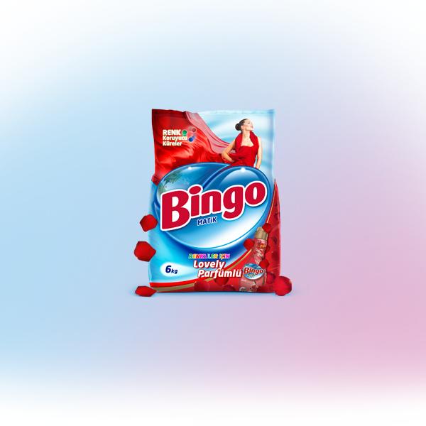 Bingo Matik Renkliler İçin Lovely Parfümlü Toz Çamaşır Deterjanı