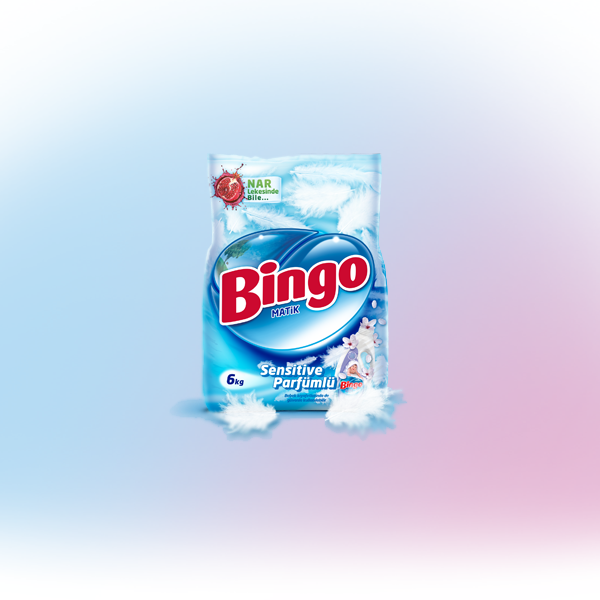 Bingo Matik Sensitive Parfümlü Toz Çamaşır Deterjanı