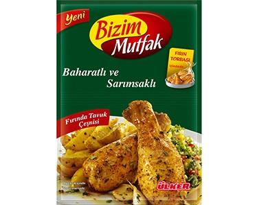 Ülker Bizim Mutfak Baharatlı ve Sarımsaklı Fırında Tavuk Çeşnisi