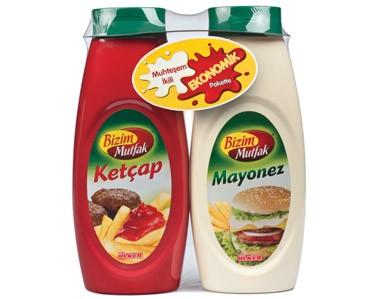 Ülker Bizim Mutfak Ketçap - Mayonez Eko. Paket Küçük Boy