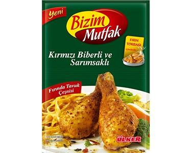 Ülker Bizim Mutfak Kırmızı Biberli ve Sarımsaklı Fırında Tavuk Çeşnisi
