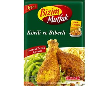 Ülker Bizim Mutfak Körili ve Biberli Fırında Tavuk Çeşnisi