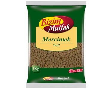 Ülker Bizim Mutfak Yeşil Mercimek 1000gr