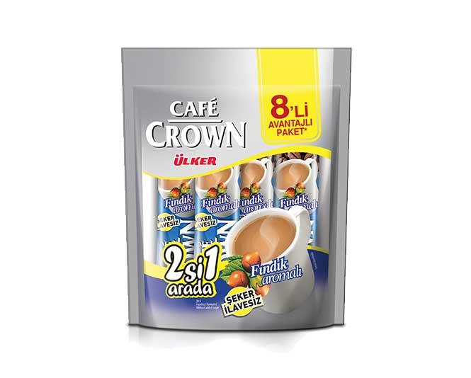 Ülker Café Crown 8'li - 2'si 1 Arada Fındık Aromalı