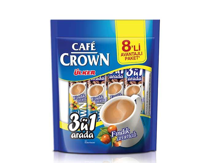 Ülker Café Crown 8'li - 3'ü 1 Arada Fındık Aromalı