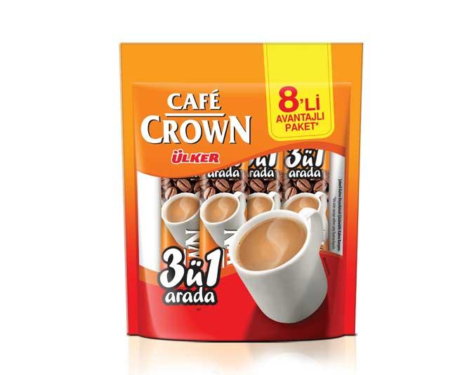 Ülker Café Crown 8'li - 3'ü 1 Arada Sade