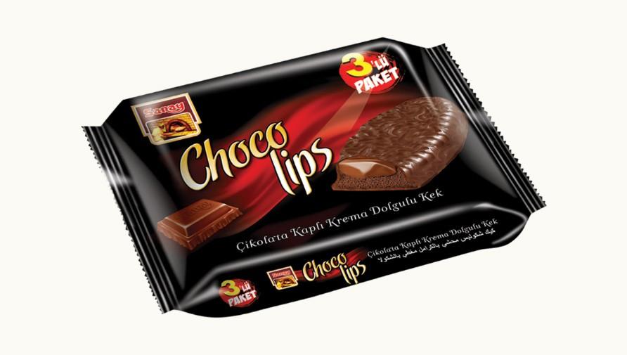 Saray Bisküvi - Chocolips - 3'lü Paket