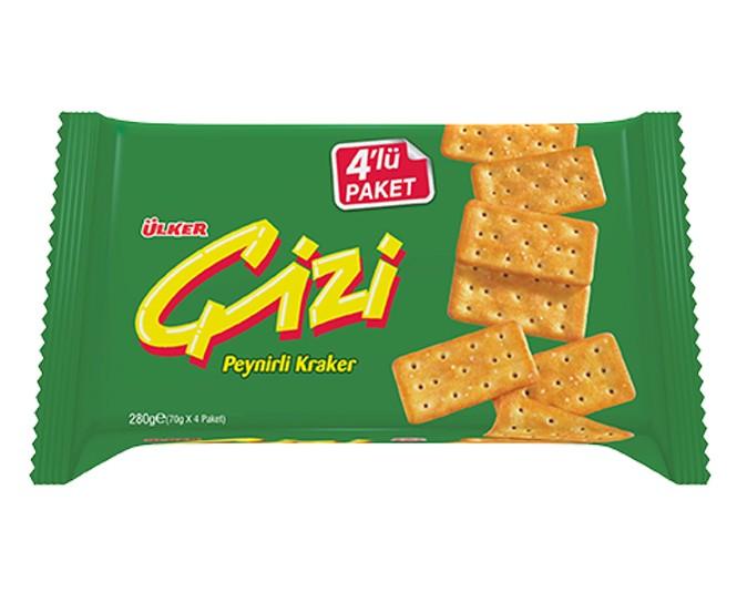 Ülker Çizi Peynirli Kraker - 4'lü Paket