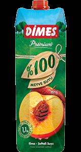 DİMES Premium %100 Elma-Şeftali Suyu