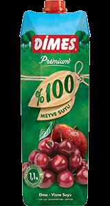DİMES Premium %100 Elma-Vişne Suyu