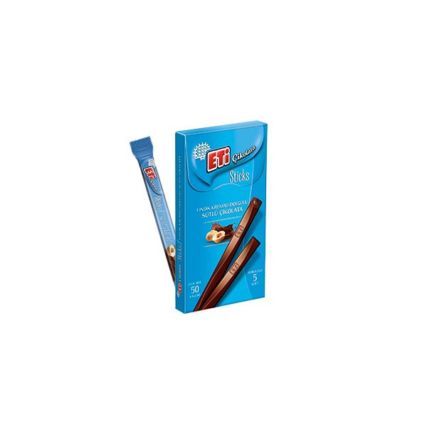 Eti Çikolata Sticks Fındık Kremalı Dolgulu
