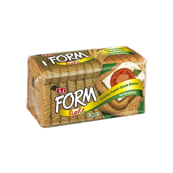 Eti Form Kızarmış Kepekli Ekmek Dilimleri