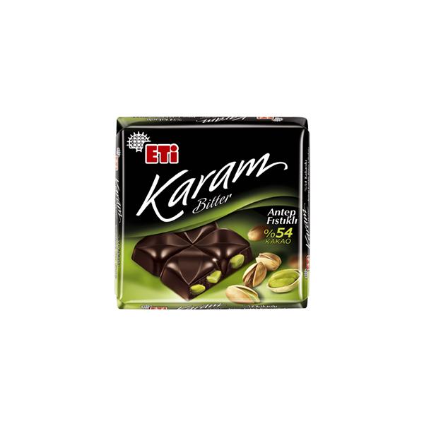 Eti Karam %54 Kakaolu Antep Fıstıklı Bitter Çikolata