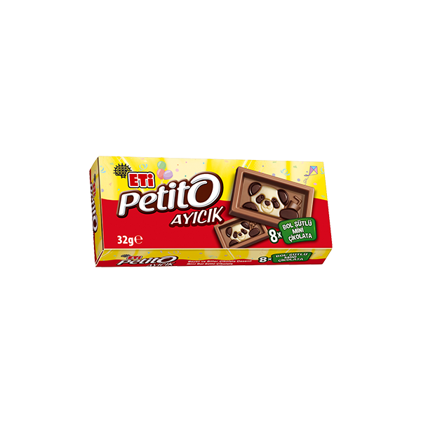 Eti Petito Ayıcık Bol Sütlü Mini Çikolata 8'li