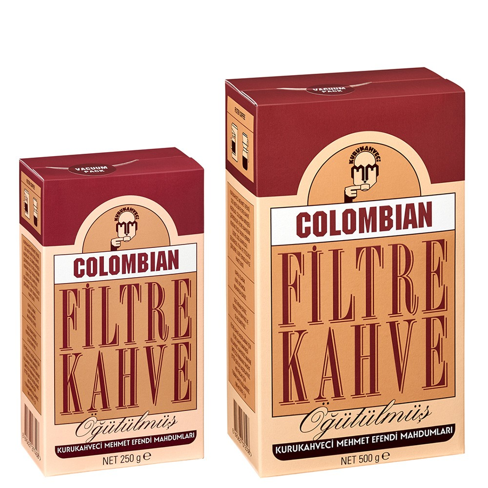 Kurukahveci Mehmet Efendi - COLOMBIAN FİLTRE KAHVE 250 / 500 g