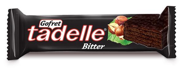 Tadelle Bitter Çikolata Kaplamalı Kakaolu Gofret 35 g