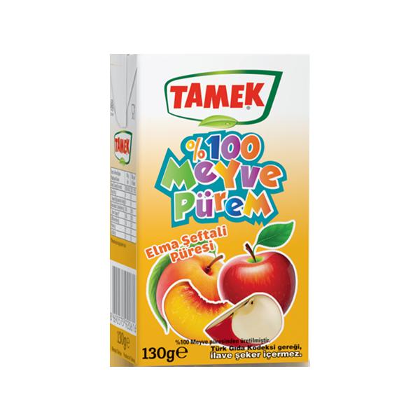 Tamek Meyve Pürem Elma, Şeftali